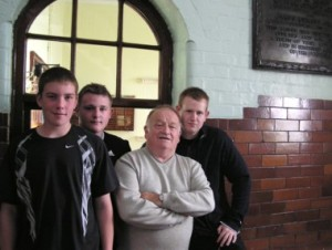 Archie with young volunteers