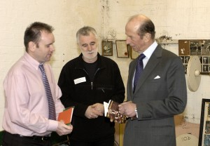Phil, Leslie and the Duke of Kent - April 2004