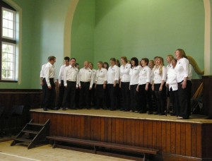 Ordsall Acapella Singers performing at Salford Lads' Club