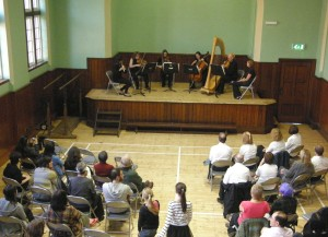 A Quintet from the BBC Philharmonic performing at Salford Lads' Club