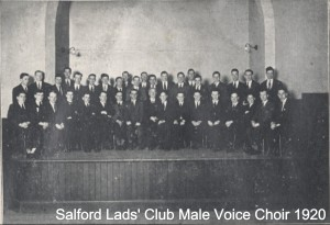 Salford Lads' Club  male voice choir 1920