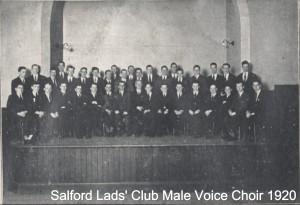 Salford Lads' Club  male voice choir 1920