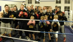 Sallford Lads club and Irlam Boxing Academy share the ring