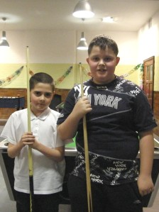 Dylan Kelly(L) and Wiliam Doyle GMFCYP under 12 final