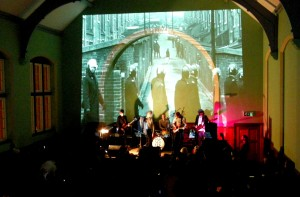 Frankie & the Heartstrings in the concert hall at Salford Lads' club