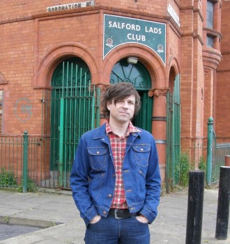Ryan Adams outside Salford Lads Club