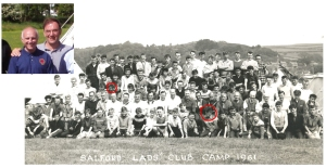 Alan Sloan & Dennis Lewtas at SLC camps in 1961 & 2005