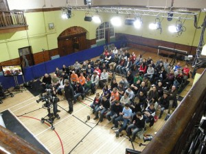 Footbal focus audience in SLC Gym
