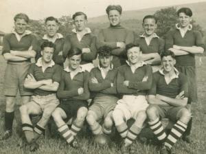 Albert McPherson 1950 SLC Camp football team