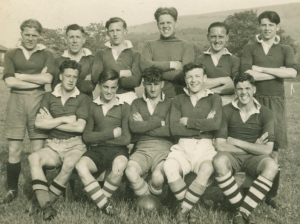 Albert McPherson 1950 SLC Camp football team