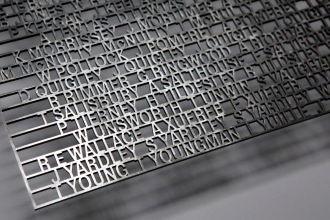 sample of the laser cut names