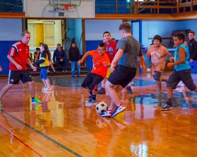 The Salford Lads Club spent the week on campus teaching soccer to RCIS students and it was a huge success!