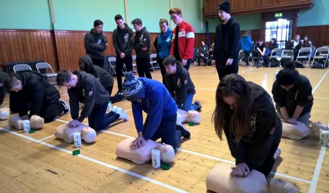 first aid training Salford Foundation 2016