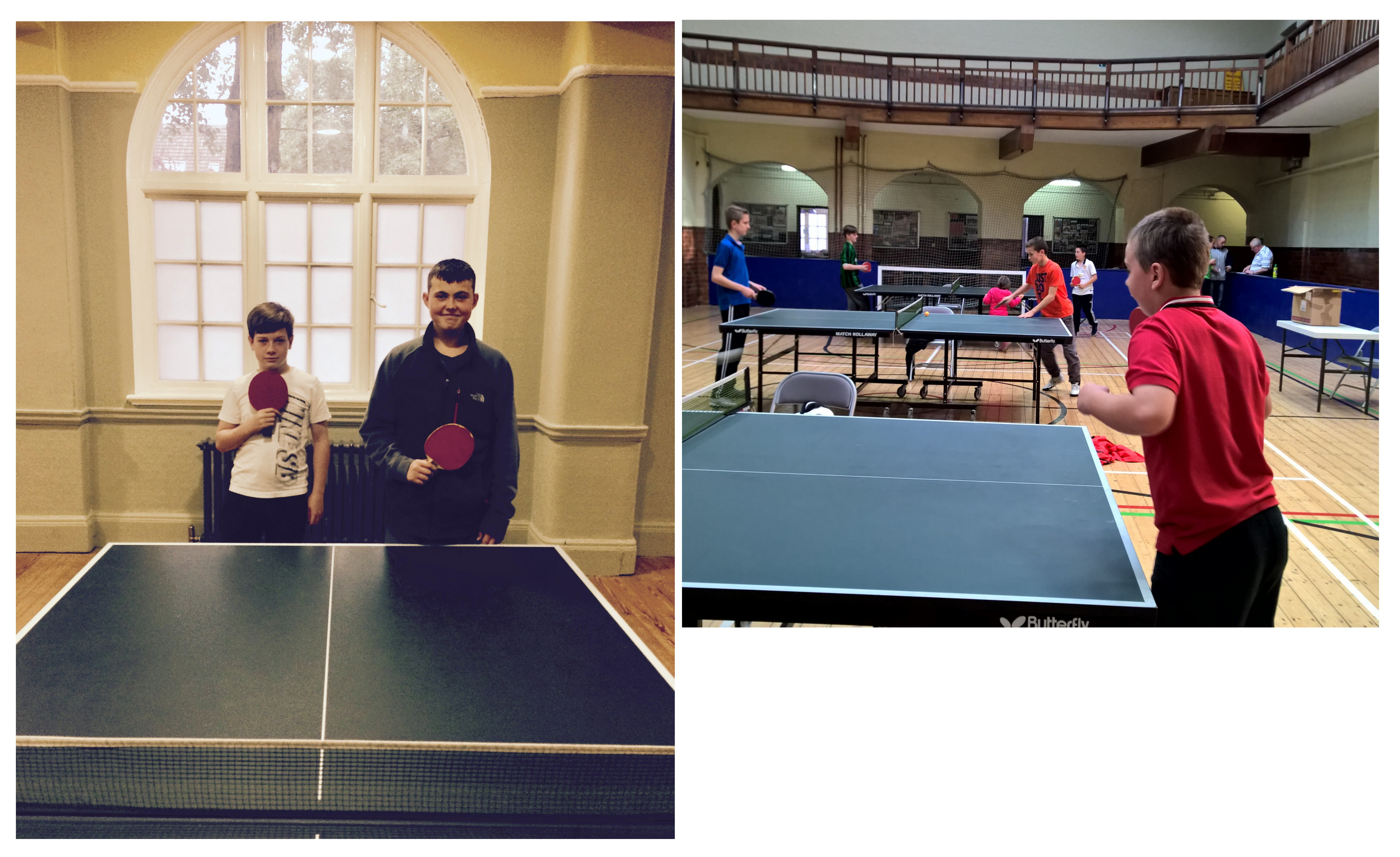 Lads in Table Tennis Finals