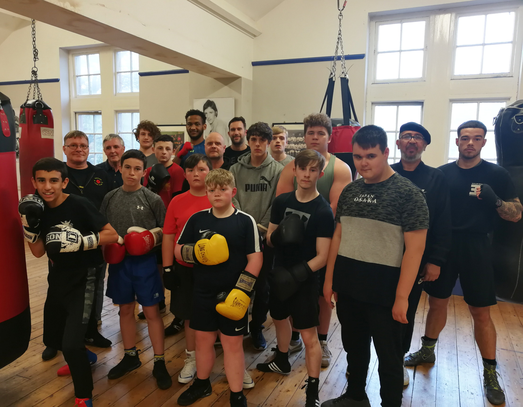 Visit by Eccles Boxing Club