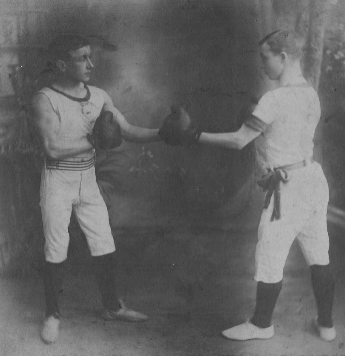 Boxing at Salford Lads Club in the early 1900s