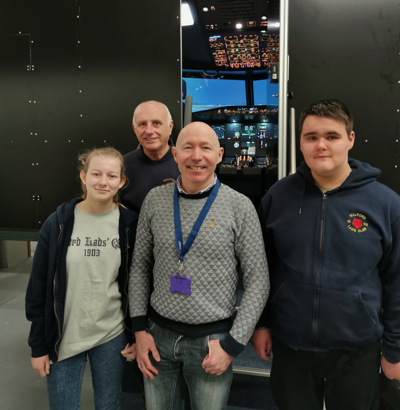Young volunteers take to the skies
