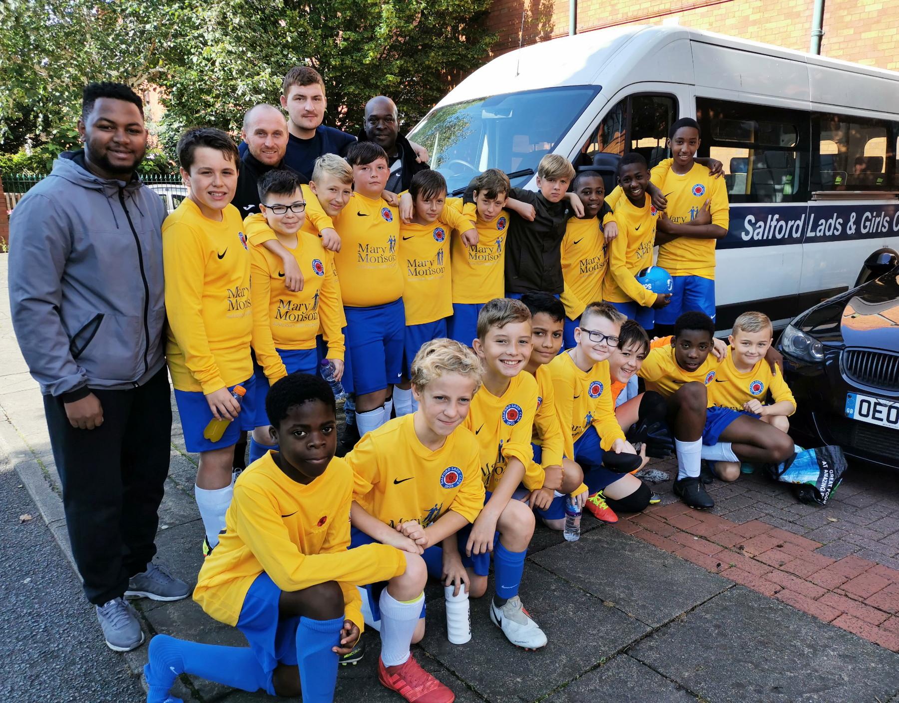 Marcus Rashford inspires young SLC footballers